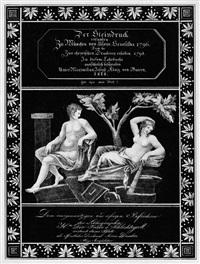 der steindruck - widmungsblatt by alois senefelder