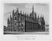 souvenirs de milan ou collection des principales vues de cette ville et de ses environs (27 works) by anonymous-italian