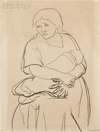 mother and child by diego rivera