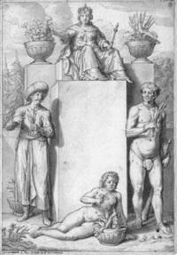 allegorie der vier erdteile by rutger van langerfeld