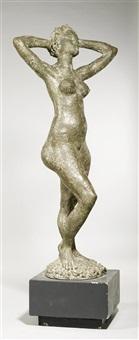 stehender weiblicher akt mit den händen hinter dem kopf by arnold d' altri