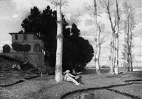 frühling (die drei lebensalter, große landschaft) (after arnold böcklin) by max klinger