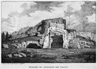 grabmal des archimedes bei syrakus (+ antiker steinbruch bei syrakus; 2 works) by friedrich von gartner