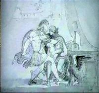 kejsar geta nedhugges i sin moders armar av sin broder   caracalla by jonas akerstrom