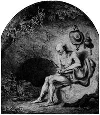 der hl. hieronymus in der höhle by ferdinand bol