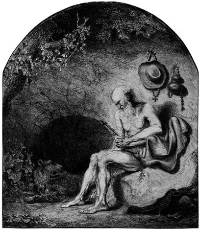 der hl hieronymus in der höhle by ferdinand bol