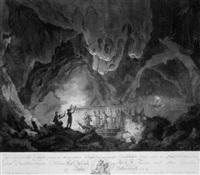 bootspartie in einer höhle by joseph fischer