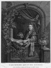 l'amateur des arts et des sciences (after gerrit dou) by alexandre (pierre alexandre) tardieu