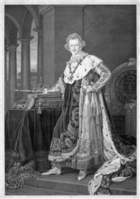 bildnis könig ludwig i. von bayern im krönungsornat (after karl joseph stieler) by albert-christophe reindel
