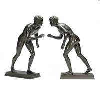 boy wrestlers (pair) by michele amodio