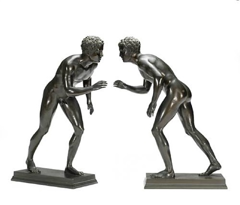 boy wrestlers pair by michele amodio