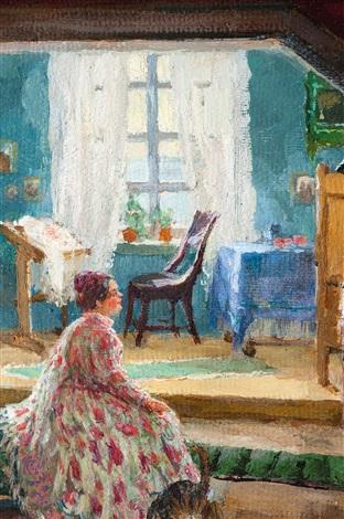 das vorzimmer by boris mikhailovich kustodiev