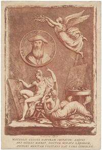 allegorie auf den künstler francesco mazzouli, gen. parmigianino by francesco (publisher) rosaspina