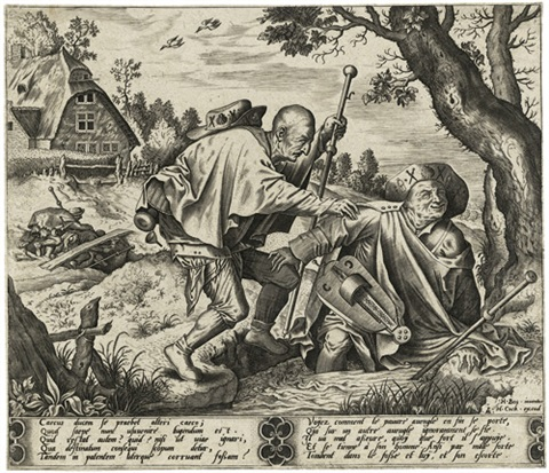 zwei blinde in einen bach fallend by hieronymus bosch