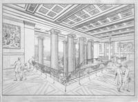 sammlung architektonischer entwürfe. heft 1-12 (von insges. 28) in 12 heften (72 works) by karl friedrich schinkel