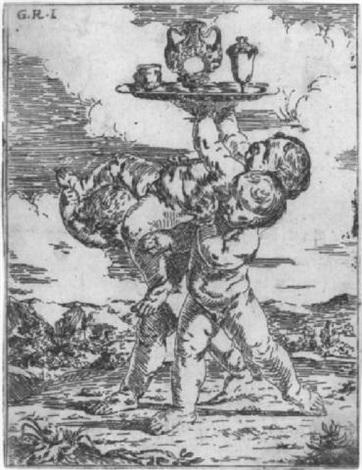 putten mit einem tablett balancierend by flaminio dagli ancinelli torri