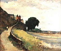 granville, chemin des ramparts by robert henry fouques