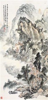 髡残诗意图 (chinese painting & calligraphy) by xiao haichun