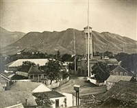 honolulu in 1870, a series of ten rare and hitherto unpublished photographs, taken of the city in the autumn of 1870, from the union street bell tower (bk by h.l. chase w/ 10 works, 4to) by ray jerome nelson