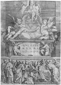 das grabmal eines bischofs (after parmigianino) by battista angolo del moro