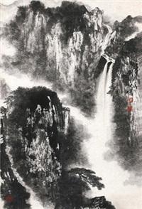 雨后山泉图 by liu baochun