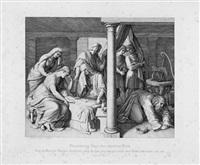 das kind davids und der bathseba stirbt by julius schnorr von carolsfeld