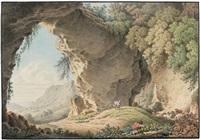 gebirgige landschaft mit schlafendem schafhirten by philipp heinrich dunker