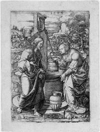 christus und die samariterin by dirk jacobsz vellert