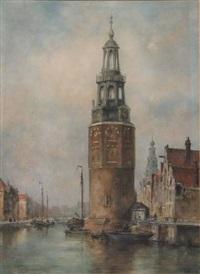 oude schans and the montelbaanstoren, amsterdam by jan van der linde