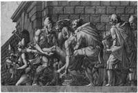 der verwundete paris wird nach troja getragen (after francesco primaticcio) by girolamo fagivoli