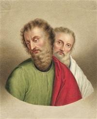 zwei apostel (wohl petrus und paulus) by johann heinrich lips