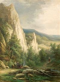 rast in den bergen by cristianus hendricus de swart