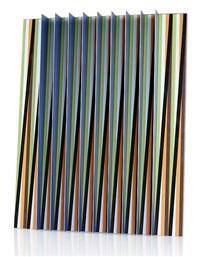cromoestructura m2. aluminiumskulptur by carlos cruz-diez