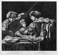concert de musique (after domenichino) by bernard picart