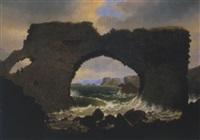 das felsentor bei stappen an der westküste islands by johann christian michael ezdorf