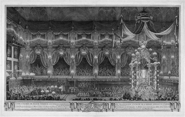pompe funebre de marie therese despagne dauphine de france en leglise de labbaye royale de st. Black Bedroom Furniture Sets. Home Design Ideas