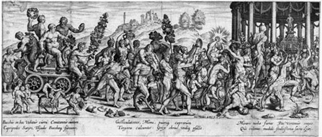 der triumph des bacchus after giulio romano by johann theodor de bry