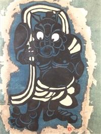 standing figure by mori yoshitoshi