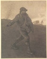 the sower (after jean-françois millet) by matthijs maris