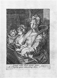 die sieben freien künste (7 works) (after hendrick goltzius) by cornelis jacobsz drebbel