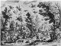 landschaft mit der versuchung des hl. antonius by charles nicolas cochin the younger