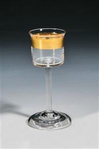 likörglas ''mit dem breiten goldrand'' by peter behrens