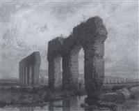 aquädukt bei rom by karl theodor reiffenstein
