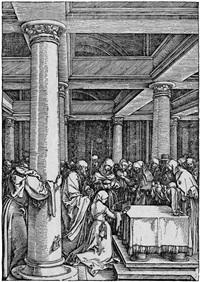 die darstellung im tempel by albrecht dürer