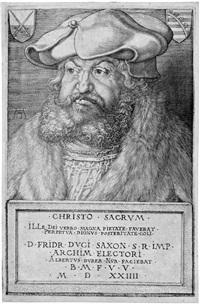 friedrich der weise, kurfürst von sachsen by albrecht dürer