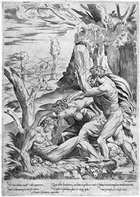 die beweinung des abel (after francesco salviati) by girolamo fagivoli
