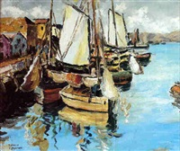 fishing boats at dock by arturo pacheco altamirano