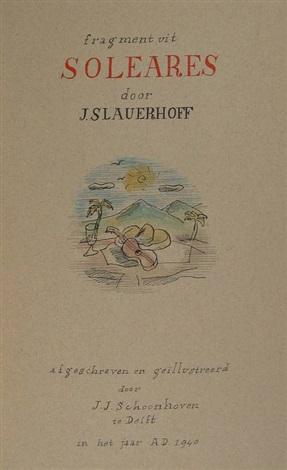 Fragment Uit Quotsolearesquot Manuscript By J Slauerhoff W7