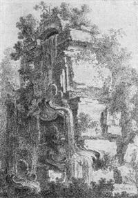 kaskade mit muschelbecken by friedrich wilhelm hoeder