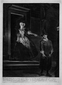 junge dame an der tür schickt einen mann bei nacht fort by cornelis troost